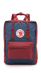 Fjall Raven Kanken Backpack Royal Blue Ox Red