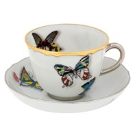 Christian Lacroix Butterfly Parade Coffee Cup And Saucer