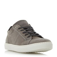 Dune Twister Lace Up Cupsole Trainers Grey