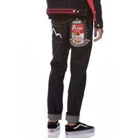 Evisu Carrot Fit Canned Soup Spray Motif Embroidery Denim Jeans