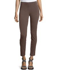 Brunello Cucinelli Side Zip Stretch Cotton Leggings Women's