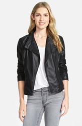 Marc New York By Andrew Marc 'Felix' Stand Collar Leather Jacket Online Only Black