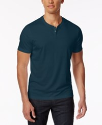 Alfani Men's Soft Touch Stretch Henley Created For Macy's Nightscape