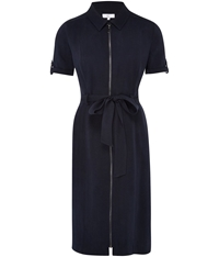 Cc Zip Front Tencel Shirt Dress Blue