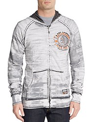 Affliction Ac Stampede Reversible Hoodie White Black