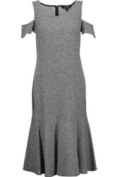 Derek Lam Cutout Cotton Blend Boucle Midi Dress Midnight Blue