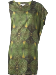 Adidas Slvr Geometric Pattern Dress Green