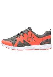 Calvin Klein Jeans Murphy Trainers Military Orange Oliv