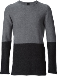 Forme D'expression Tonal Colour Block Sweater Grey