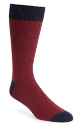 Ted Baker London Polbray Ribbed Socks Red