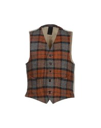 People Suits And Jackets Waistcoats Men Rust