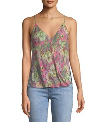 Bailey 44 Tantra V Neck Sleeveless Printed Top Pink