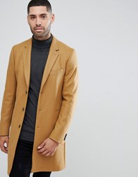 Paul Smith Ps Wool Cashmere Overcoat In Camel 65 Tan