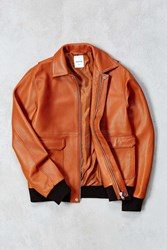 Wood Wood Dean Leather Jacket Copper
