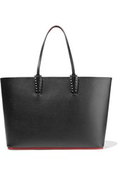 Christian Louboutin Cabata Spiked Textured Leather Tote Black
