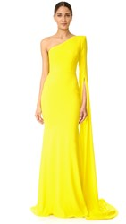 Alex Perry Aurore One Shoulder Gown Yellow