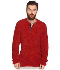 Original Penguin Henley Fleece Lounge Top Biking Red Men's Pajama