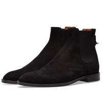 Givenchy Suede Rider Chelsea Zip Boot Black