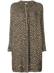 M Missoni Embroidered Fitted Coat Black