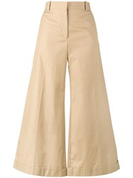 Celine Wide Leg Culottes Nude And Neutrals