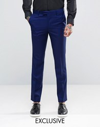 Farah Bright Millbank Twill Suit Trousers Blue