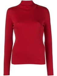 Each X Other Turtle Neck Jumper Red