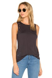 Weslin Grant The Brix Distressed Muscle Tank Black