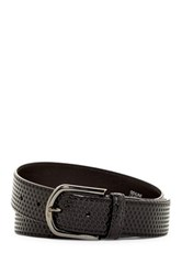 A. Testoni Nido Leather Ape Belt Black