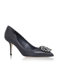 Dolce And Gabbana Bellucci Leather Pumps 75 Female Grey
