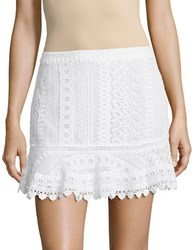 Bb Dakota Lace Mini Skirt Optic White
