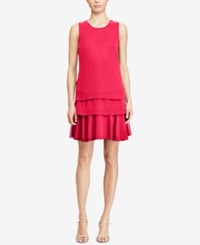 American Living Tiered Georgette Dress Coral