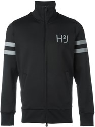 Hydrogen Logo Print Zipped Jacket Black