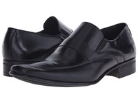 Massimo Matteo Mocc With Leather Strap Black Men's Slip On Dress Shoes