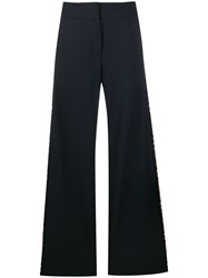 Monse Knit Band High Waisted Trousers Blue