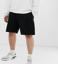 Only And Sons Boxy Jersey Shorts Black