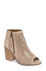 Sole Society Women's Dallas Peforated Peep Toe Bootie French Taupe