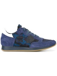 Philippe Model Camouflage Sneakers Blue