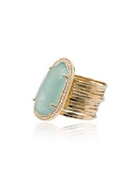 Jacquie Aiche Chalcedony Diamond 14K Gold Cocktail Ring