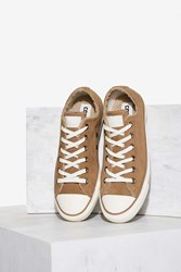 Converse Chuck Taylor All Star Suede And Faux Shearling Sneaker Sand Dune Brown
