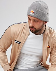 Ellesse Beanie With Small Logo In Gray Gray