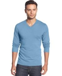 Alfani Black V Neck Sweater Ocean River