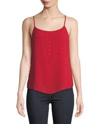 Bailey 44 Stone Fox Embellished Georgette Cami Red