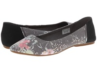 Sanuk Yoga Eden Black Floral Women's Flat Shoes