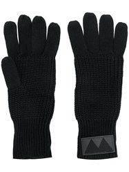 Marc By Marc Jacobs Ribbed Knit Gloves Black