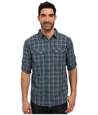 Columbia Silver Ridge Plaid L S Deep Water Ripstop Men's Long Sleeve Button Up Blue