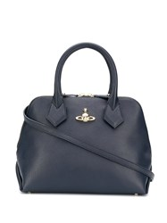 Vivienne Westwood Logo Plaque Tote Bag Blue