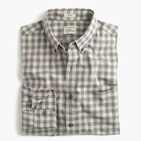 J.Crew Slim Secret Wash Shirt In Heather Poplin Grey Plaid