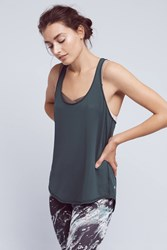 Anthropologie Spark Racerback Tank Dark Green
