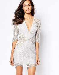 For Love And Lemons Lyla Cocktail Dress Silver