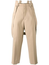 Marni Trousers With Braces Nude Neutrals